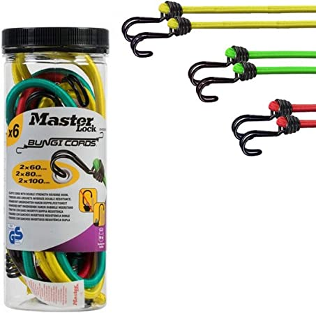 Master Lock  2 Pack of  80 cm Twin Wire Bungee Cords Green