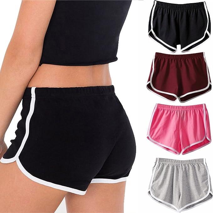 Amazon.com: Letsfree - Pantalones cortos deportivos para ...