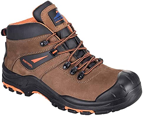 Wolverine Mid  Steel Toe  EH Mens Work Safety Hiking//Trail  Brownn Nubuck Boots