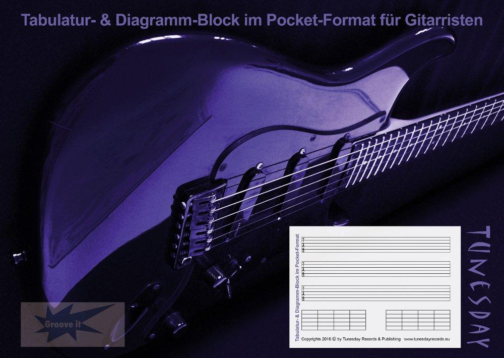 Tabulatur-TAB-Block für Gitarristen im Pocket-Format mit ...