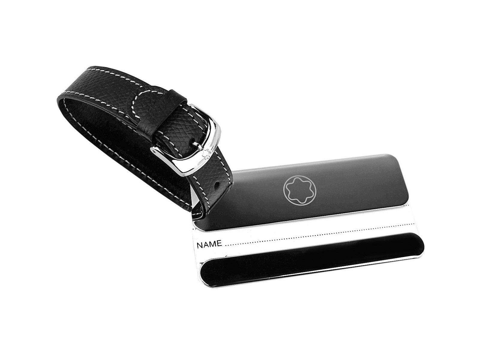 MONTBLANC LIFESTYLE ACCESSORIES LUGGAGE TAG STEEL & LEATHER 113726 GERMANY by MONTBLANC