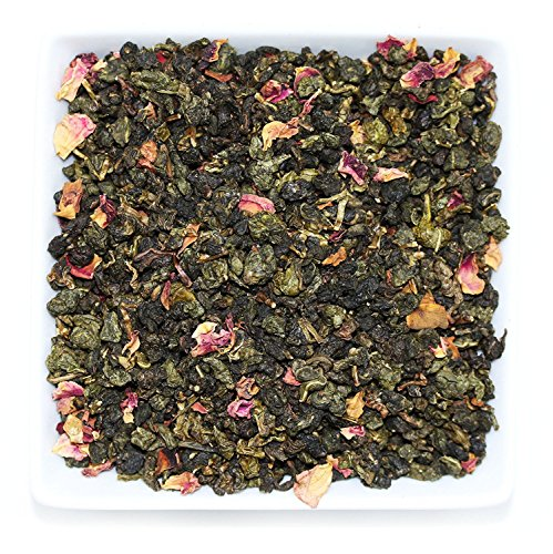 Tealyra - Rose Oolong - Taiwanese Oolong and Rose Petals - Loose Leaf Tea - Very Fragrant and Unique Oolong Blend - Caffeine Medium - 110g (Ice Peak Oolong Tea)