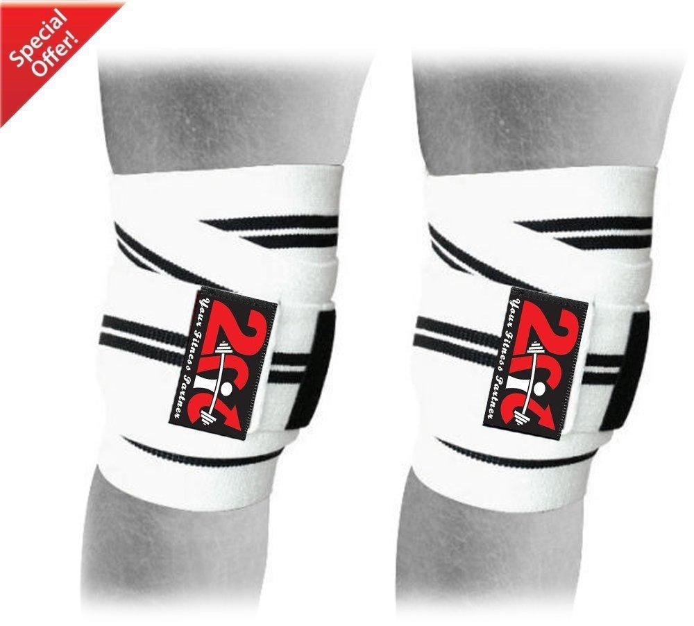 imbottite Ginocchiere a fascia per proteggere le ginocchia durante gli allenamenti in palestra ed esercizi di sollevamento pesi 2Fit