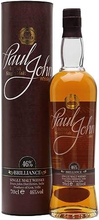 Paul John BRILLIANCE Indian Single Malt Whisky 46% - 700 ...