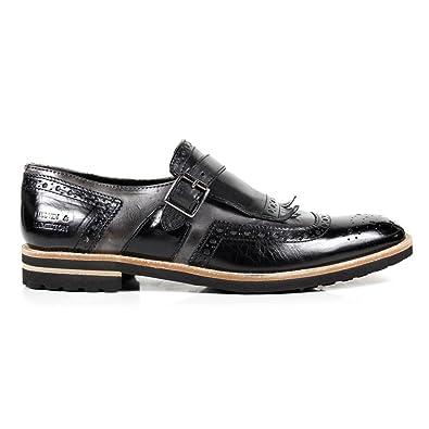 Melvin   Hamilton Chaussure en cuir sans laçets Homme Noir  Amazon.fr   Chaussures et Sacs a369ccc59262