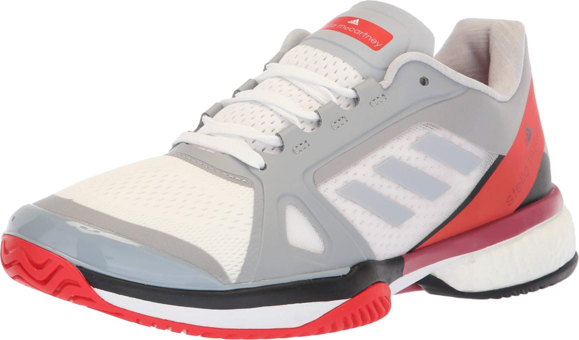 adidas Women's aSMC Barricade Boost Mid Grey/Mid Grey/Core Red 9 B US by adidas