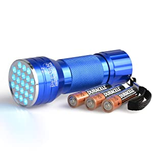 PeeDar 2.0 UV Pet Urine Detector Black Light Flashlight + Cat & Dog Behaviorist Book + 3 AAAs. Ultra Bright Optimal 380-385NM LEDs Find Invisible Stains Instantly! Rid Cat, Dog Pee Issues Forever.