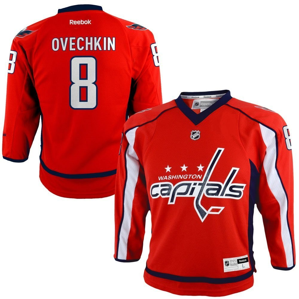 Alexander Ovechkin Washington Capitals NHL Reebok Toddler Red Replica Hockey...
