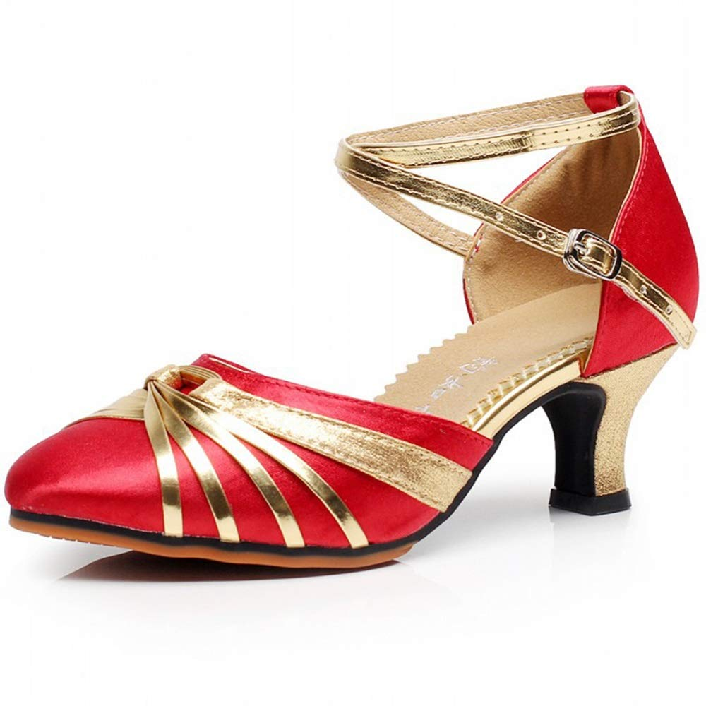 Latin Dance Schuhe Erwachsene Frauen Frauen Frauen Low-Heels Tanzschuhe Tanzschuhe Freundschaft Square Dance Schuhe Weiche Unterseite 972d7e