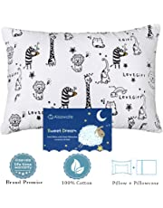 Toddler Pillows with Pillowcase,Soft Cotton Kids Children's Pillows 13X18 for Girls Boys Sleeping,Washable and Hypoallergenic,Best Kids Gift (Animal)
