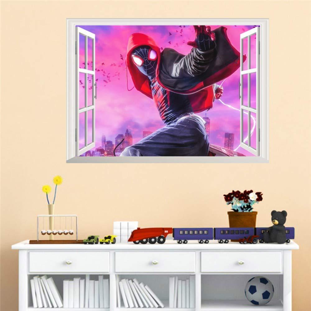 Spiderman 3d efecto ventana pegatinas de pared dormitorio ...