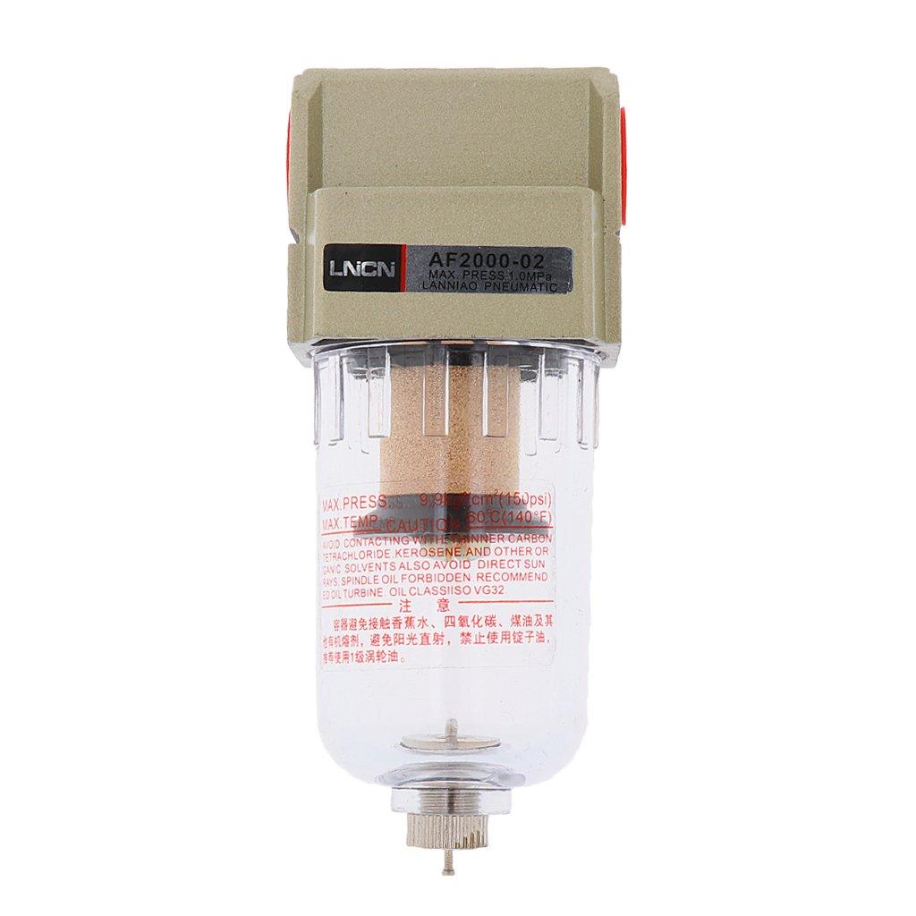 MagiDeal Filtro de Aire Particulado Compresor Agua Purificador de Trampa de Humedad Herramientas - Plata-Af4000-04 1/2 filtro