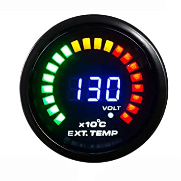 52mm Medidor Digital Panel Indicador Analógico LED de Temperatura de Gas de Escape EGT para Coche: Amazon.es: Coche y moto