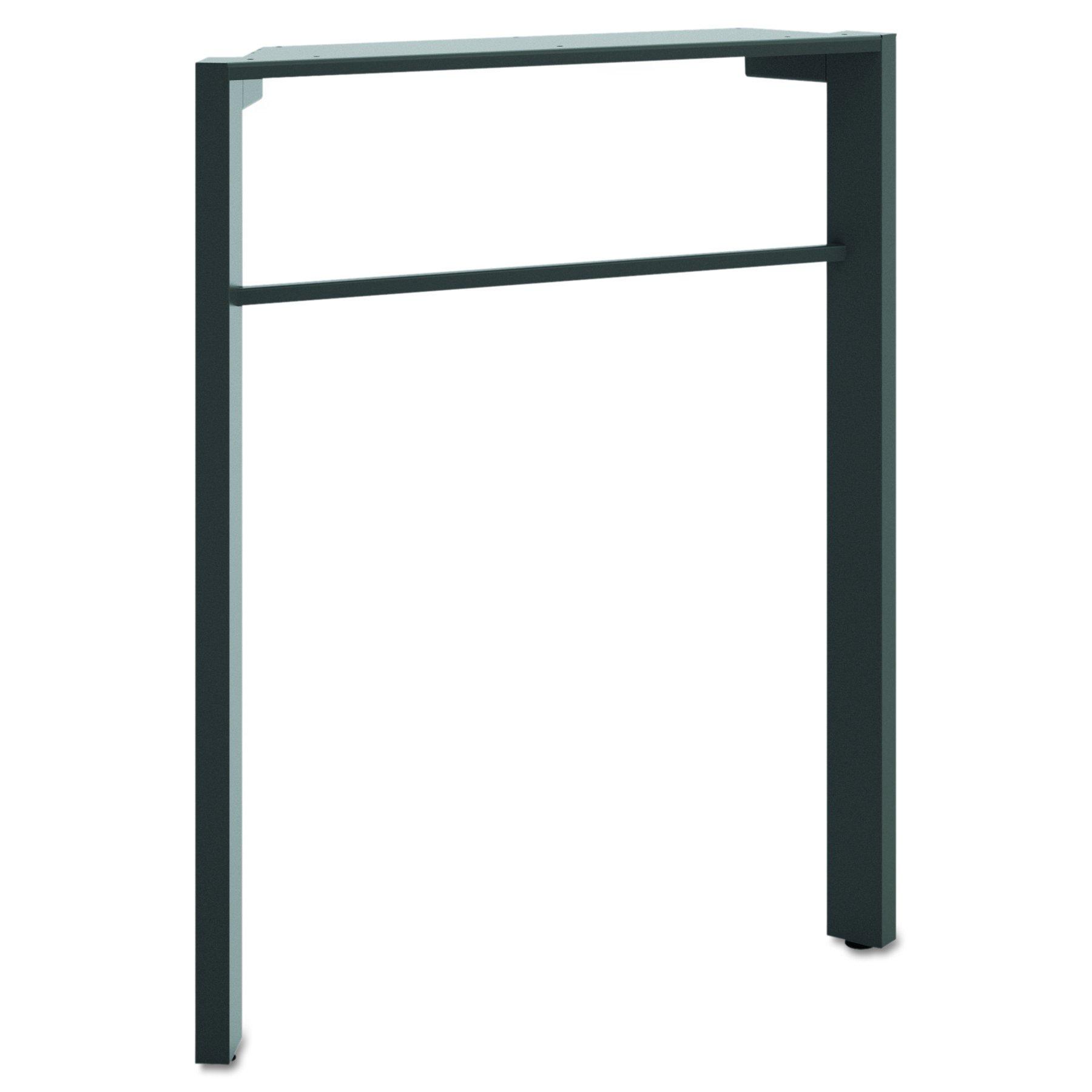 HON The Company BSXMGDLEGA1 Manage Series Desk Leg, Ash Metallic Finish (HMNGDLEG), 28 1/2-Inch,