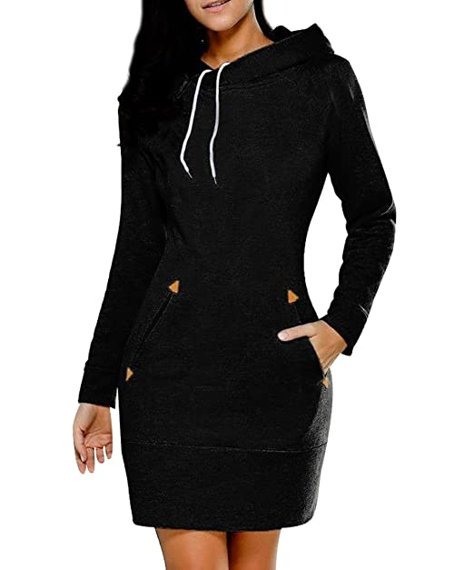 a425da01912 ISSHE Sweatshirt Hoodies for Women Long Hoodie Sweatshirts Jumper Womens  Women s Pullover Hooded Oversized Sweatshirt Dress Long Sleeve Hoodies Plain  Soft ...