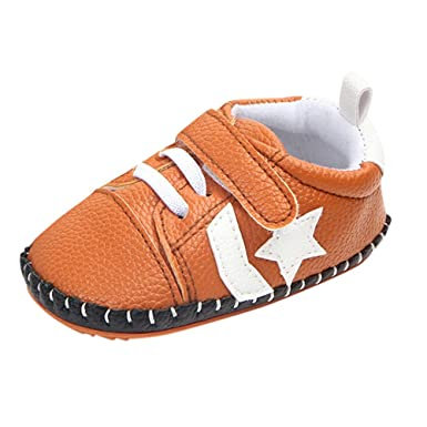 ❤ Recién Nacido Zapatos Antideslizante Suave,Baby Toddler Star Print Cartoon Sole Casual Absolute: Amazon.es: Ropa y accesorios