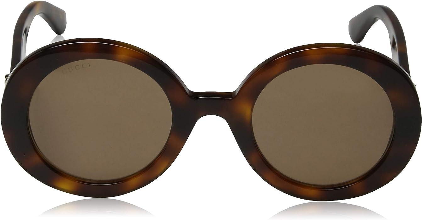 da96ac4f3d38 Gucci GG 0107 S- 002 GOLD/ORANGE Sunglasses   Amazon