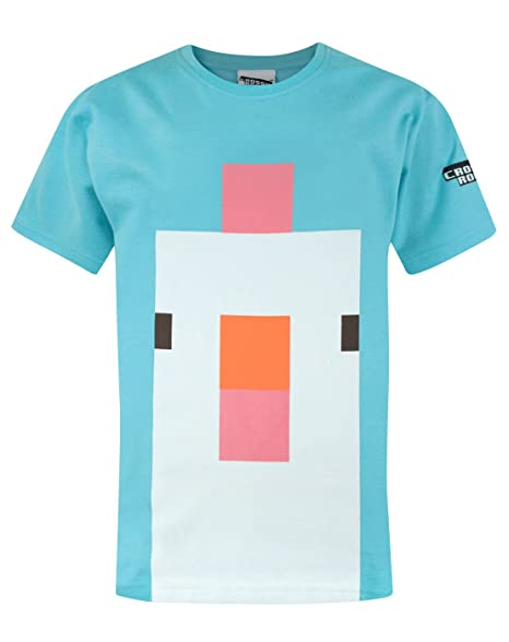 Crossy Road Chicken Face Girl/'s T-Shirt