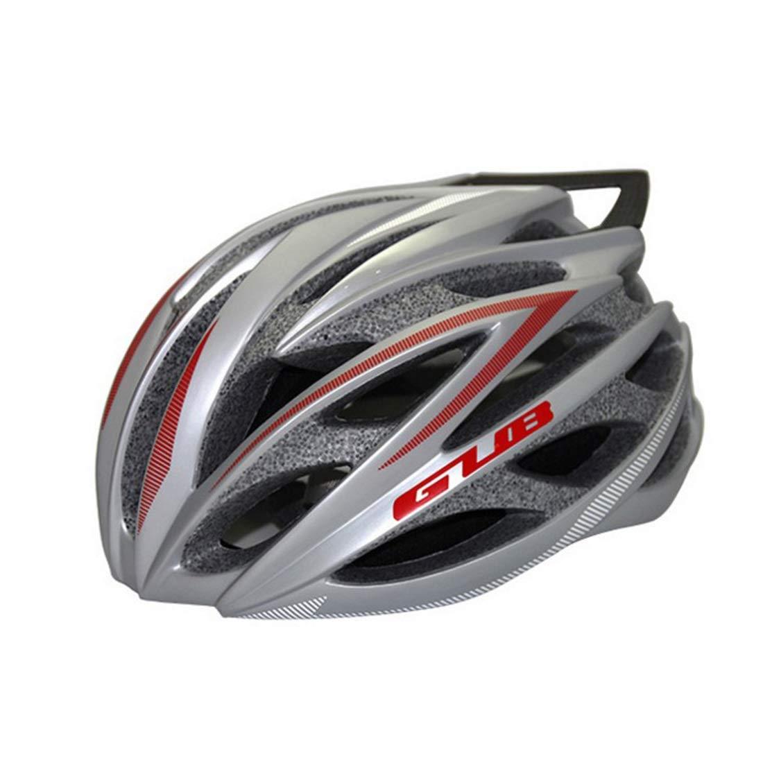 Nekovan 自転車用ヘルメット、屋外用サイクリング愛好家に最適な自転車用安全ヘルメット。 (Color : Silver)  Silver B07QHL3Q3G