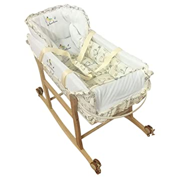 Decdeal - 3 en 1 Cuna para Bebé Recién Nacido Alargada con Mosquitero para Uso Diario Viaje Coche Portable de Cesta y Soporte con Ruedas: Amazon.es: Hogar