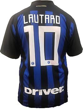 Camiseta Jersey Futbol Inter F.C Lautaro Martinez Replica Oficial Autorizado 2018-2019 Niños (2