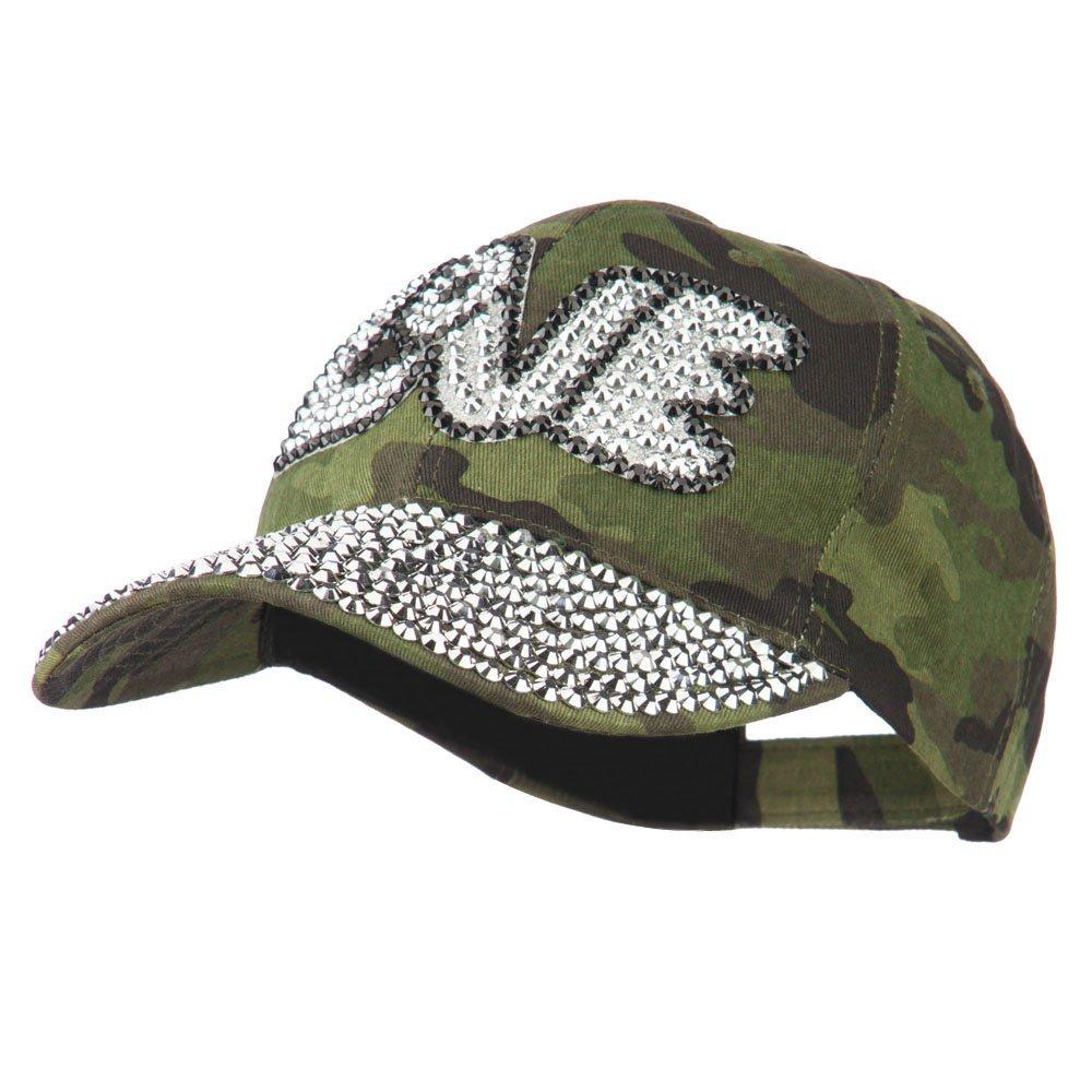 SS/Hat Love Rhinestone Jeweled Baseball Cap - Camo OSFM
