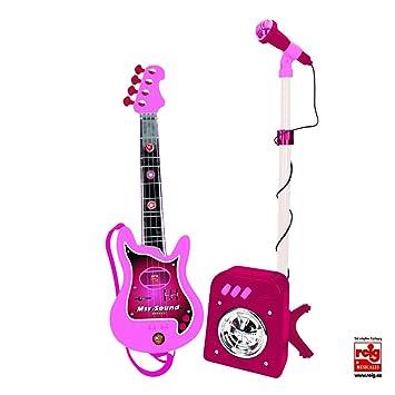 CLAUDIO REIG Conjunto Flash micrófono + bafle + Guitar Color Rosa 8441: Amazon.es: Juguetes y juegos