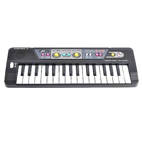 Piano para niños, Foxom 32 Teclas Electrónico Teclados Piano con Micrófono Piano Juguete Musical Regalo