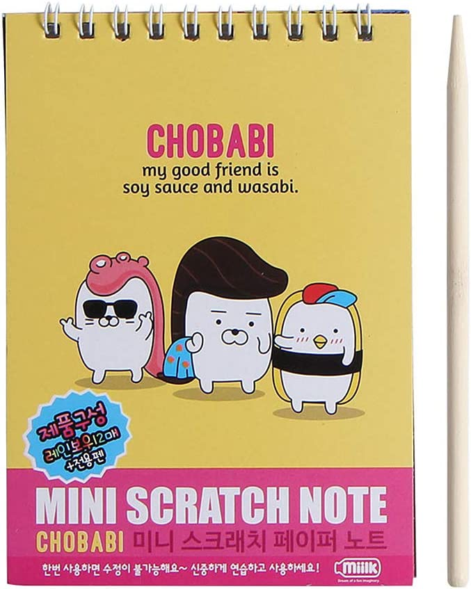 ZJL220 Kids Scratch Card Coil Book Niños DIY Manual para Colorear Papel Graffiti Hot Pink: Amazon.es: Hogar