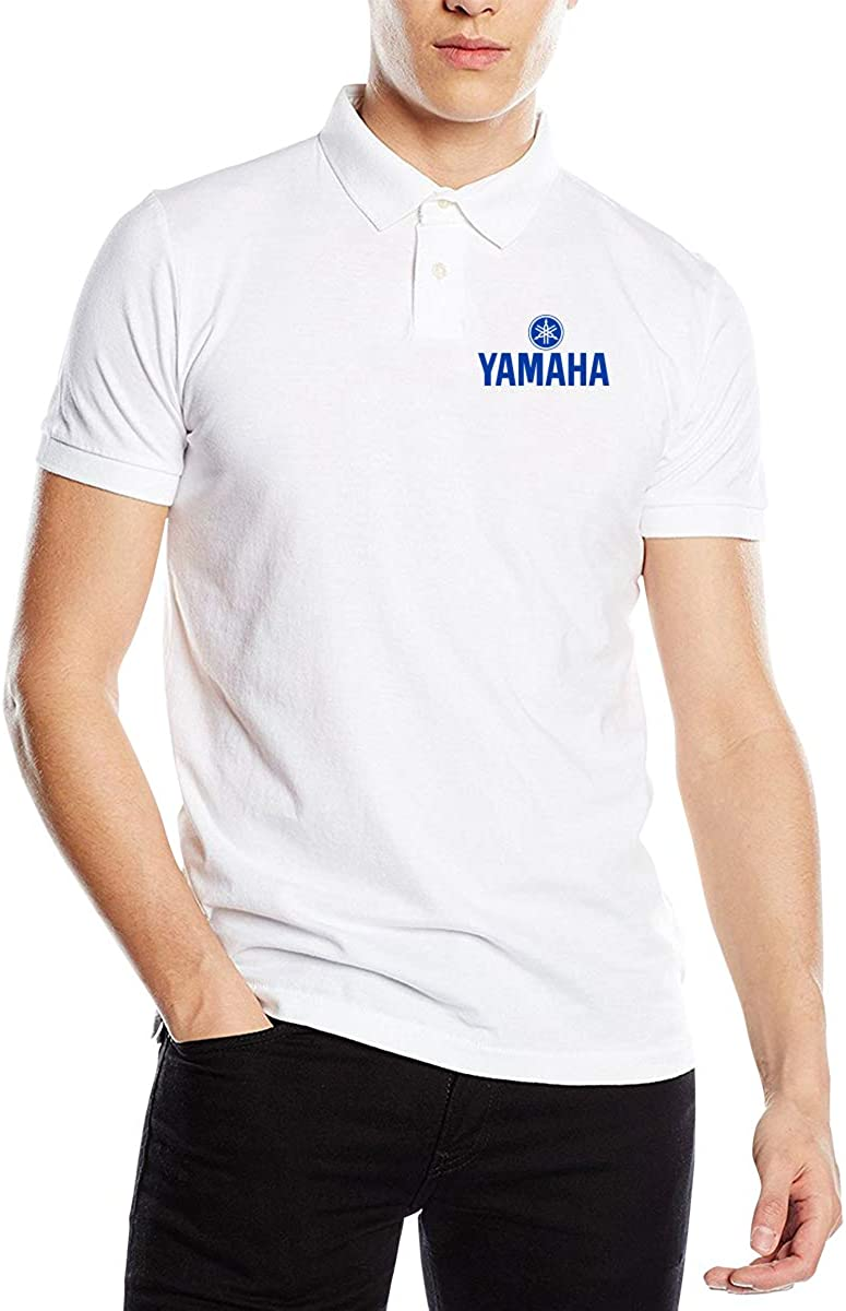 Kaivis New Customized Yamaha Logo Blue Fashion Funny Printed PyrographPolo Short Sleeve for Male Black