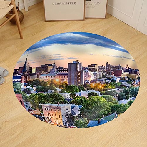 Gzhihine Custom round floor mat Portland Maine Usa Downtown - Portland Outlets Maine