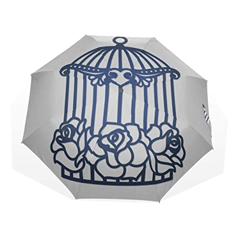 Paraguas Plegables para niños Colgante Jaula de pájaros Hiedra de ...