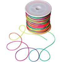 Wohlstand 100m Cordón elástico,cordón de cordón de cuentas