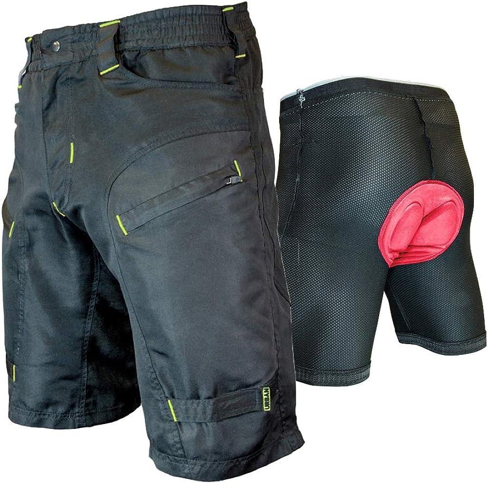 The Single Tracker-Mountain Bike Cargo Shorts, with Premium Antibacterial G-tex Padded Undershorts: Clothing
