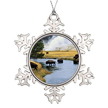 YANAN Bison Fire Crossing River Ornaments Custom Pendant ...
