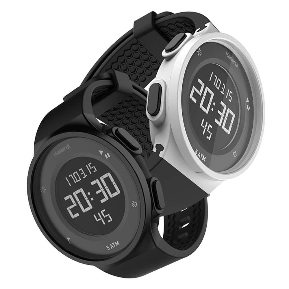 ZLC Decathlon Flagship Store Reloj Deportivo Estudiante Masculino Impermeable Reloj electrónico Multifuncional Femenino natación Run K (Color : Black ...
