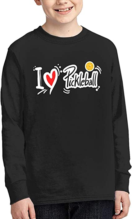 WJSDOWOWEN I Love Pickleball Junior manga larga camiseta ...