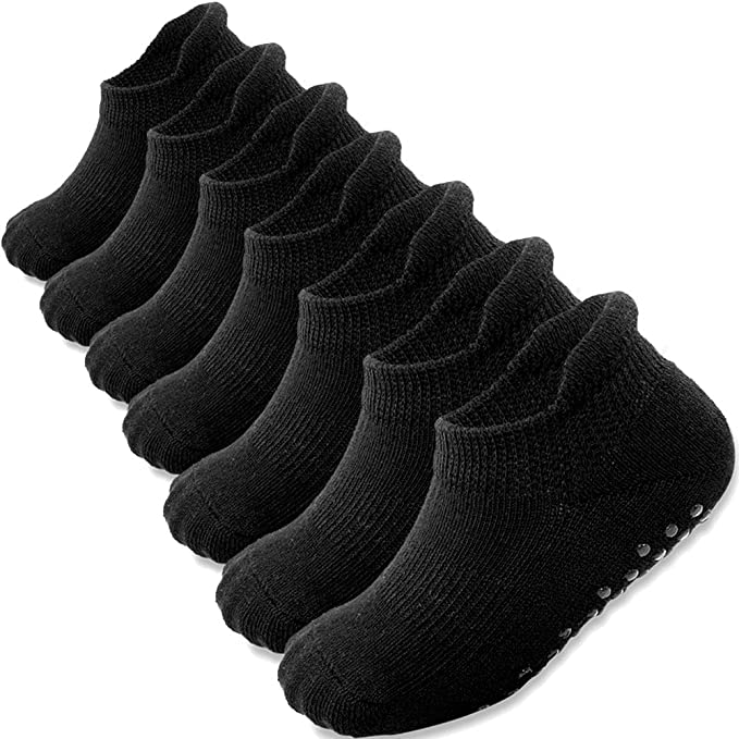 2-4 Kid/'s Toddler Mid-high Ankle Solid Black Socks Spandex Cotton New Boys Girls