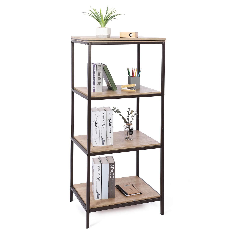 Soggiorno Libreria Lintel Oak Mensola angolare con scaffale Mobili in Legno Effetto Accento Sekey Home Scaffale di Scale Scaffale a 4 Livelli Bagno