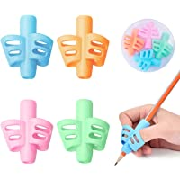 Pencil Grips for Kids Handwriting, Children Pen Writing Aid Grip Trainer Set Posture Correction Tool for Kids…