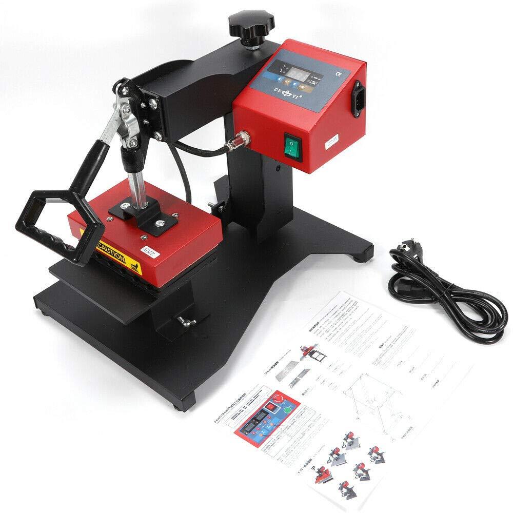 BTdahong pressa a Sublimazione Digitale Pressa a Caldo Digitale per 6 Penne