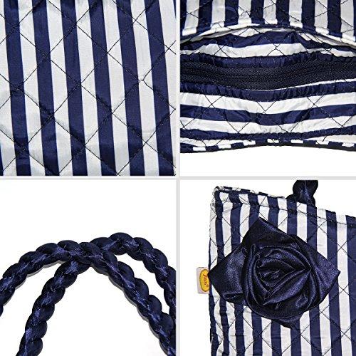 Bag Borsa blu Pataya Ladies Messenger Brevetto Rosa Ptb079 01 qgwTT8IvW