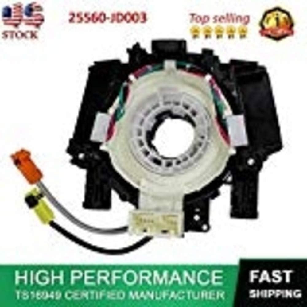 !OEM# 25560-JD003 Clock Spring AirBag Spiral Cable for Nissan Pathfinder Qashqai