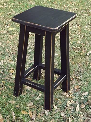 Amazon Com Black Bar Stool Counter Stool Wood