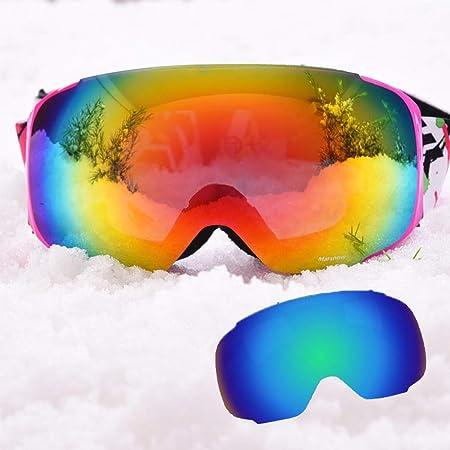 Gafas de esquí Gafas de esquí: PC, doble antiniebla, lentes ...