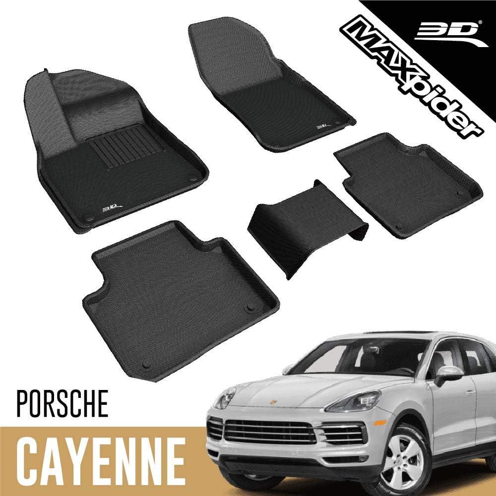 3d Maxpider Allwetter Fußmatten Für Porsche Cayenne 2020 Passgenau Auto Fußmatten Kagu Serie 1 2 Reihe Schwarz Auto