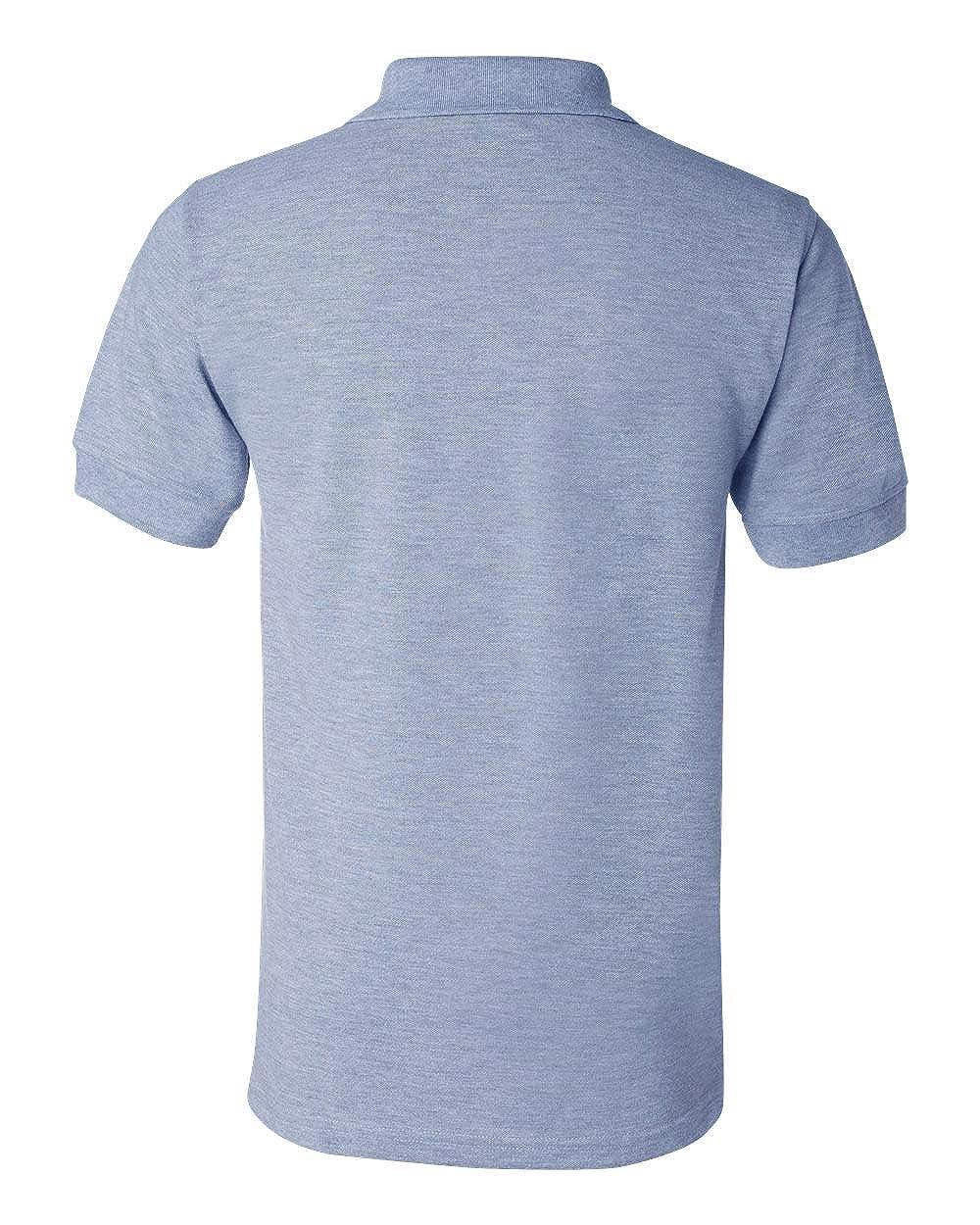 Bayside Mens 1000 USA-Made Sport Uniform Solid Plain Polo Shirt