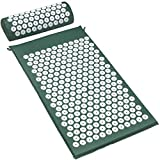 Sivan Health and Fitness®Acupressure Mat and Pillow Set for Lower, Upper, Mid, Chronic
