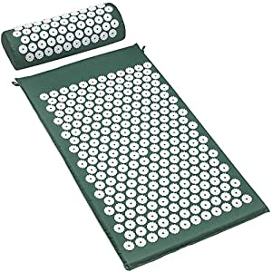 Gut Health Shop 614A1fFbUAL._SS300_ Sivan Back and Neck Pain Relief Acupressure Mat and Pillow Set, Chronic Back Pain Treatment - Relieves Your Stress of…