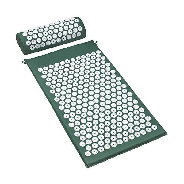 Sivan Back And Neck Pain Relief Acupressure Mat And Pillow Set Chronic Back Pain Treatment Relieves Your Stress Of Lower Upper Back And Sciatic Pain Green